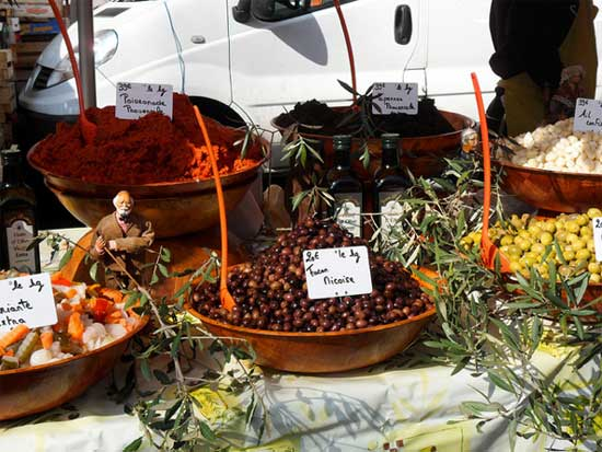 olives at a french market