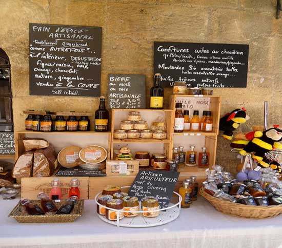 french sauces at traditional market
