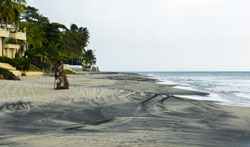 You'll find beautiful white-and-black sand beaches set in a small-town atmosphere in Coronado, Panama.