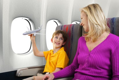 On a wing and a prayer--tips for flying with the kids
