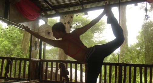 teaching yoga in Costa Rica