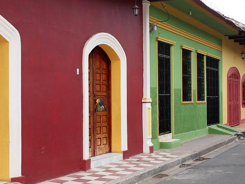 Colorful homes in Granada