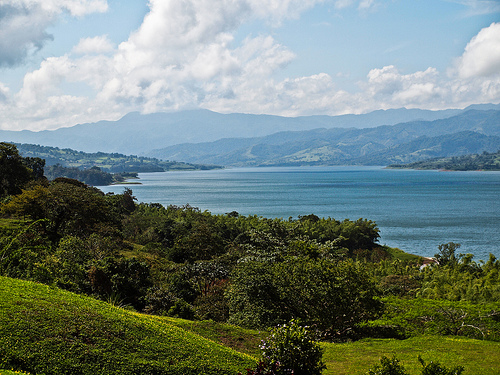 A typical – and stunning - view of the Arenal lakeshore. Many expats have views like this from their front porches.