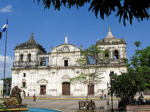 León, Nicaragua's second largest city is abound with colonial cathedrals like this one.