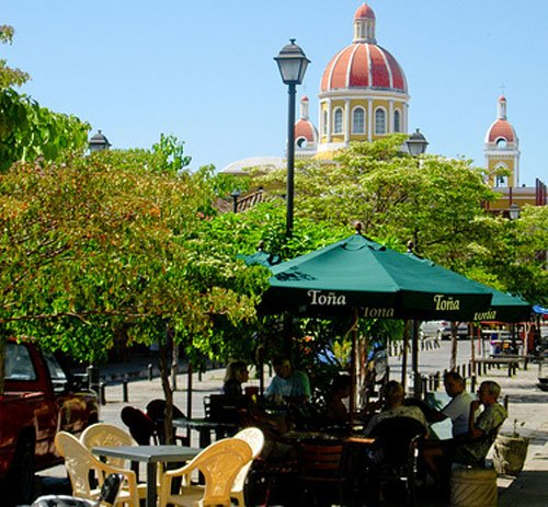 Take in the colonial sites of Granada at one of the many cafés that line the streets.