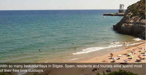 Enjoy a Great Lifestyle by the Beach in Sitges, Spain