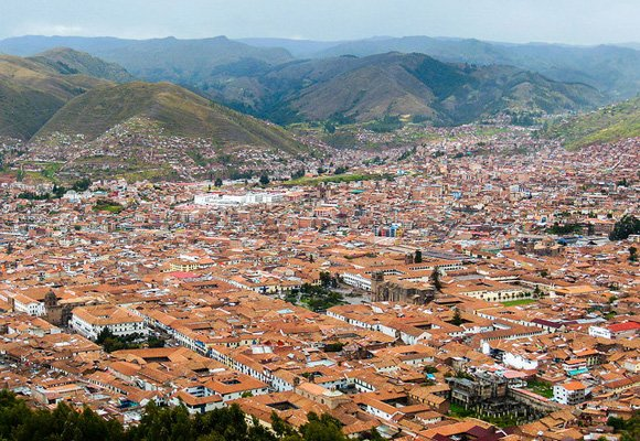Get up close to the distinctive red roofs of Cusco and youll find they're covered with tiny ceramic bulls—a practice said to bring good fortune to its people.