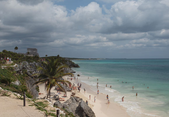 The Mayan ruins just north of Tulúm town are a must-see, although there can be crowds. Don't miss the beach at the bottom of the cliffs.