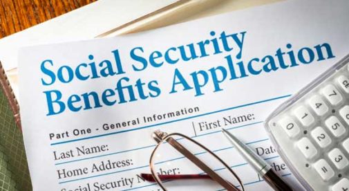 Social Security Form, Social security benefits