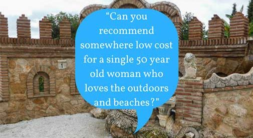 """Can you recommend somewhere low cost for a single 50 year old woman who loves the outdoors and beaches?"""