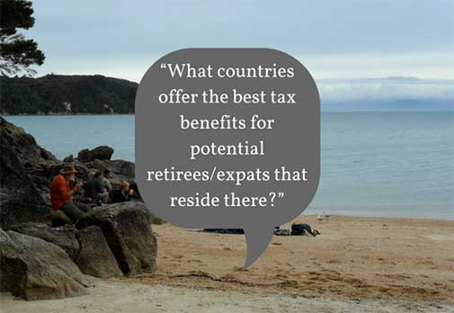 What countries offer the best tax benefits for potential retirees/expats that reside there?