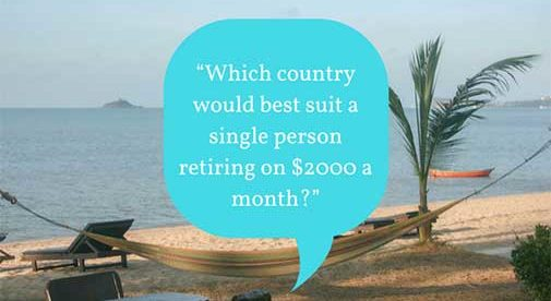 """Which country would best suit a single person retiring on $2000 a month?"""