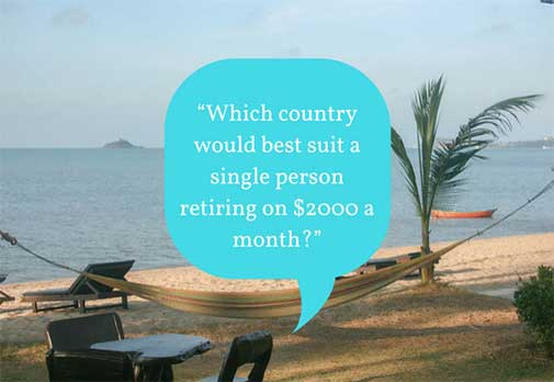 Which country would best suit a single person retiring on $2000 a month?