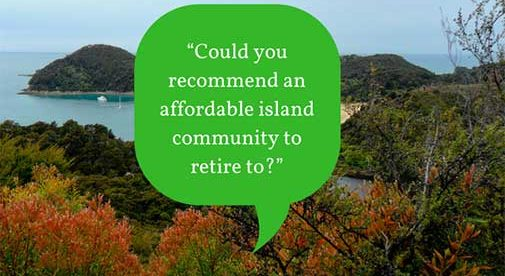 """Could you recommend an affordable island community to retire to?"""