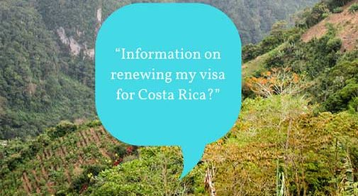 """Information on renewing my visa for Costa Rica?"""