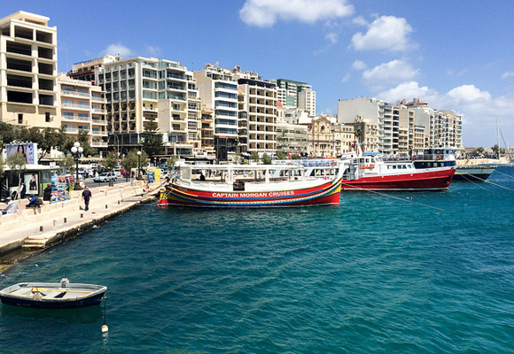 Slide 3 View of Sliema on ferry