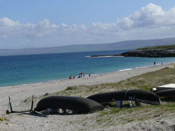 beach on the Aran Islands - you could explore the entire Ireland