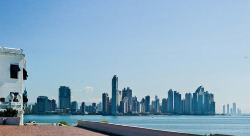 Casco Viejo, view of Panama