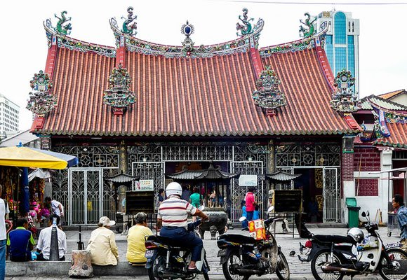 Colonial George Town is full of architecture that will delight. Temples, like the Lady of Mercy temple pictured here, can be found throughout Malaysia and George Town.
