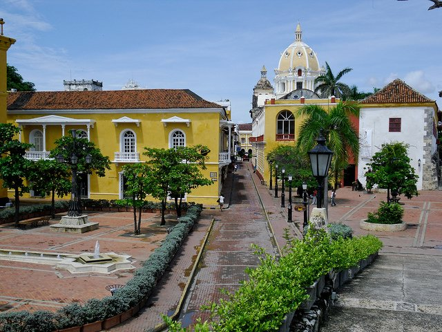 Cartagena Street in Colombia