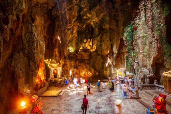 Explore the Cave Temples at Marble Mountain