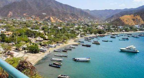 Caribbean Beach Town