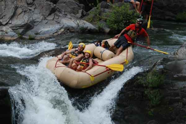 Take on the rapids white water rafting