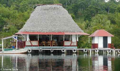 One of Bocas del Toro's boat-accessible restaurants