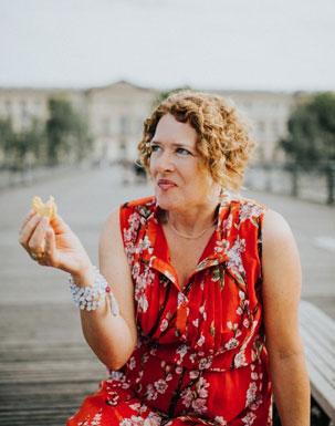 Cynthia gets paid to enjoy Paris while preparing for her tour