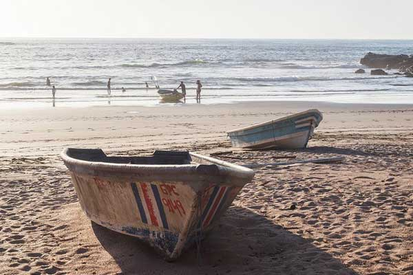 Fishing boats like this ply the waters off the Guanacaste Peninsula daily