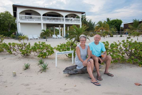 Kirsten and Per Kristensen love their home on the beach in Belize