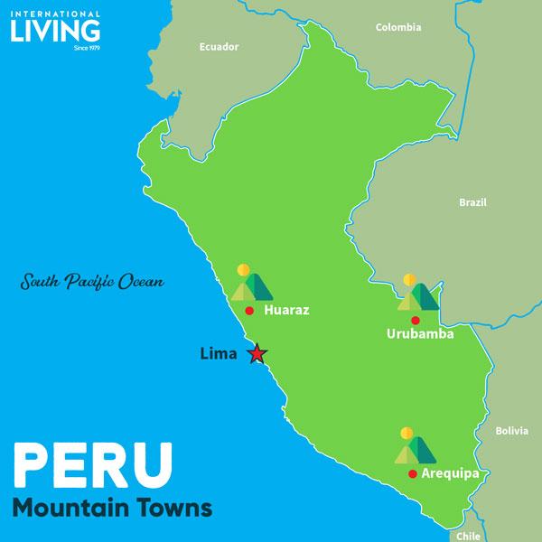 Arequipa Peru Map Maps of Peru: Best Beachside and Mountain Towns   International living Arequipa Peru Map