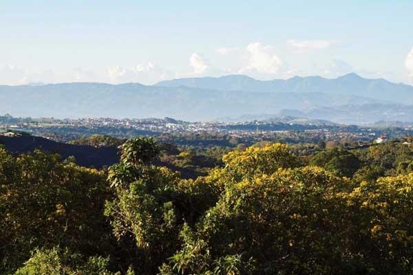 The lush surroundings of Grecia, Costa Rica