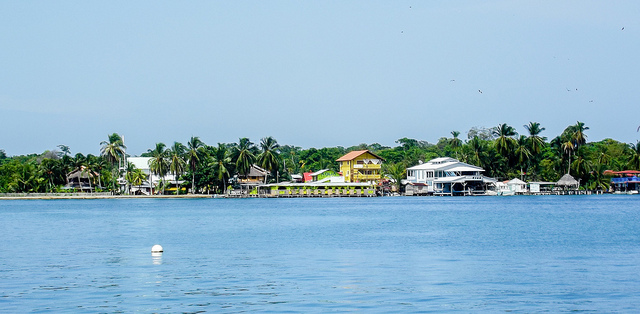 View of Isla Colón from the sea