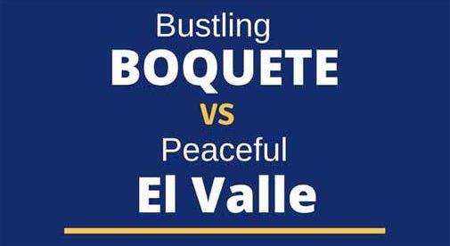 boquete vs el valle infographic
