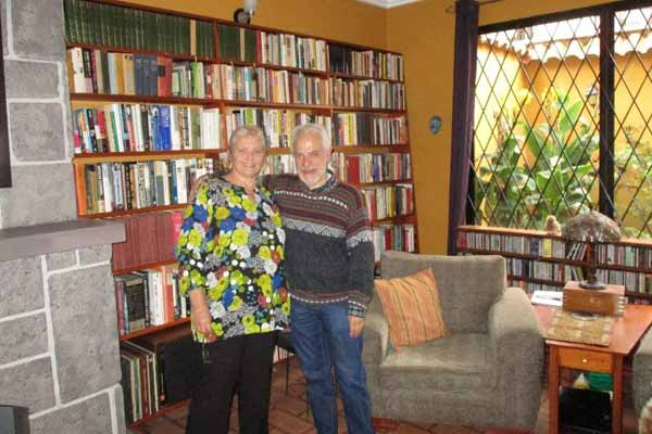 Franny and Robert installed bespoke bookshelves to house their 6,000-book collection