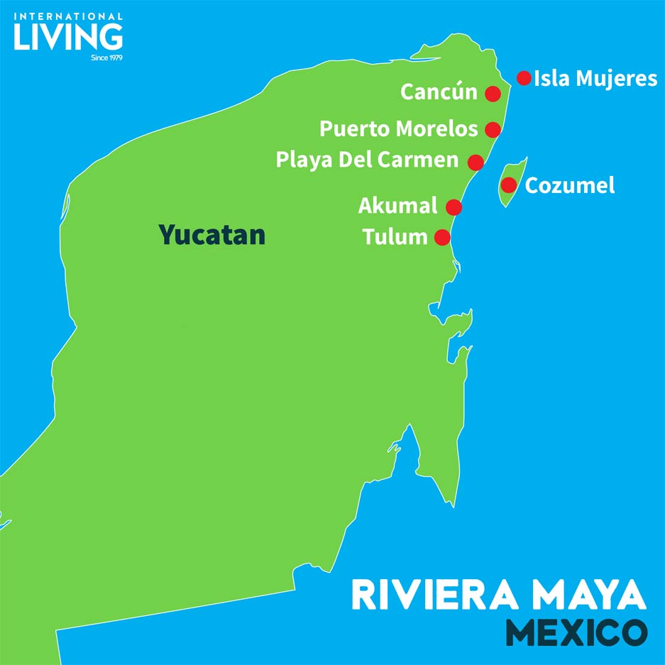 Cancun Riviera Maya Map on