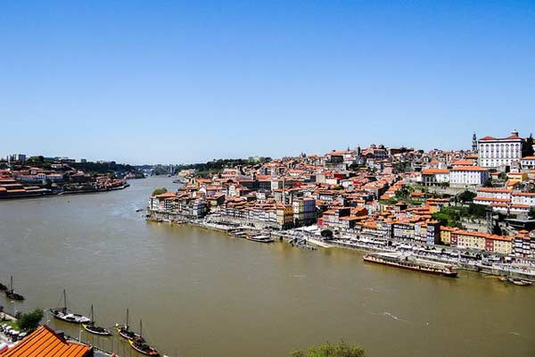 Porto sits near the mouth of the Douro river