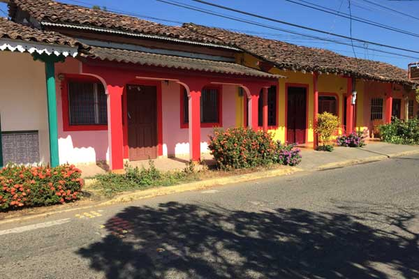 Some of the brightly colored houses of Pedasí