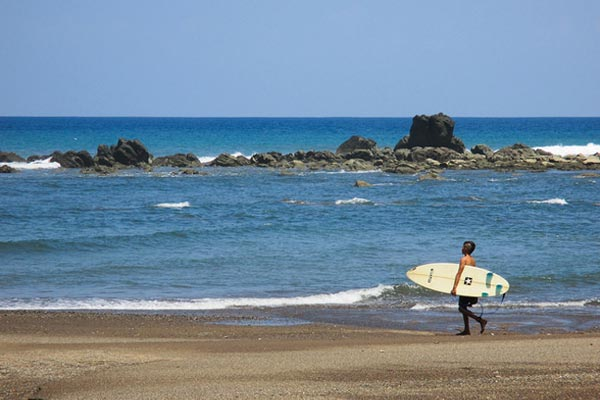Costa Rica's beaches are popular with surfers of all ages.