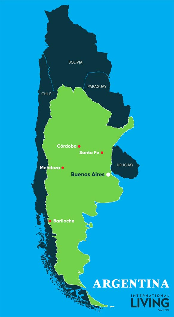 Where is Argentina? / Map of Argentina - International Living