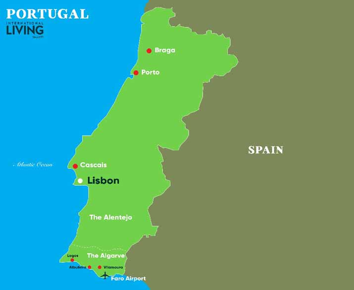 Where Is Portugal A Map Of Portugal Popular Area S