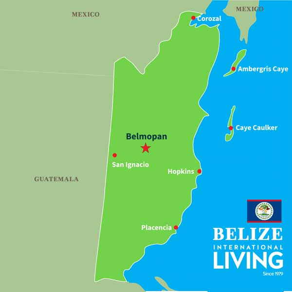 Where Is Belize Located Geography Map Top Area S And Locations