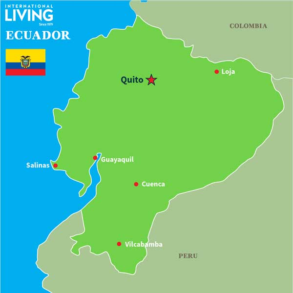 Ecuador On The Map Where is Ecuador?: Map of Ecuador   International Living   Countries