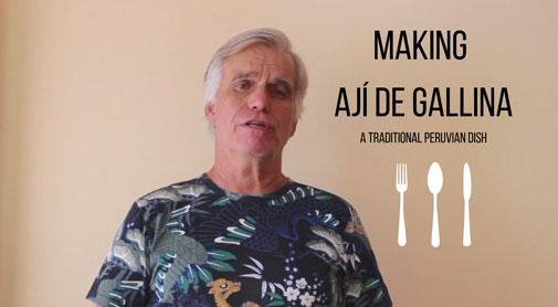 Making Ají de Gallina