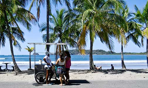Costa Rica Beach and Ice Cream Truck