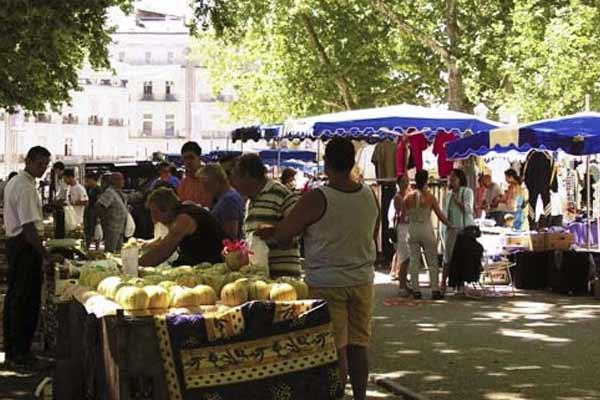 Montpellier town markets