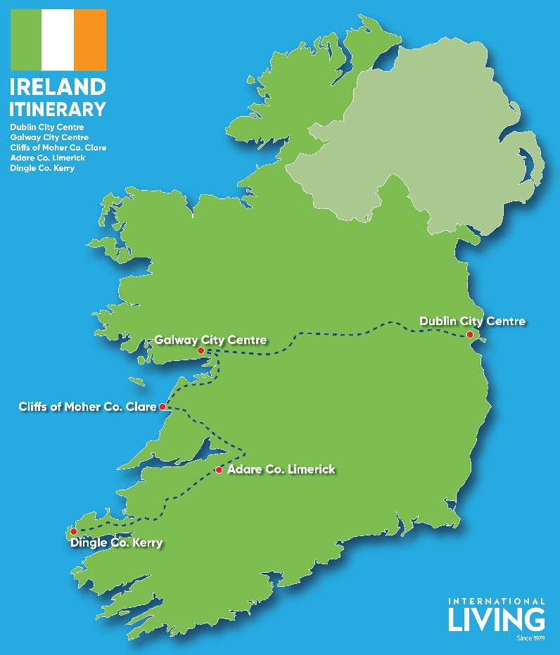 Ireland-Itinerary-map