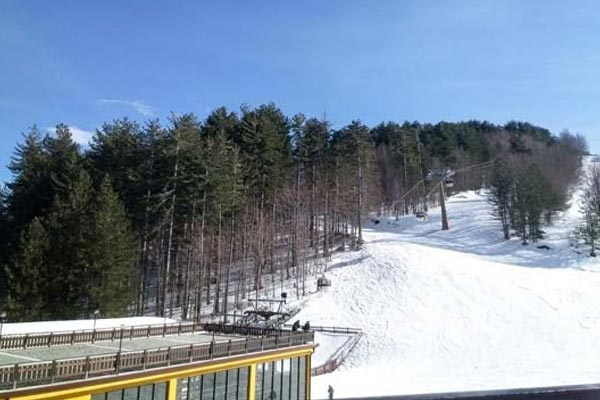 Skiing at Lorica in the Sila Mountains
