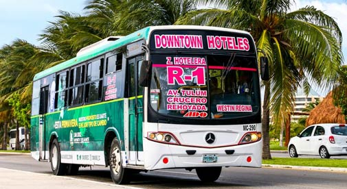 Traveling by Bus in the Riviera Maya